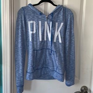 light blue PINK hoodie size M